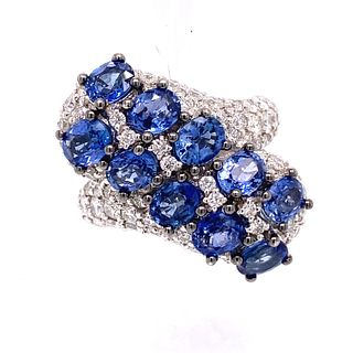 SALAVETTI 18K Sapphire Diamond Ring
