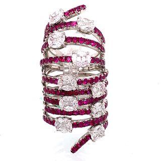 18K Ruby Diamond RingÊ