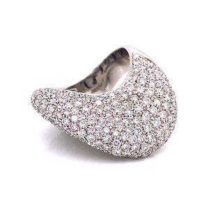 18K Diamond Abstract Shape Ring