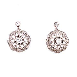 1920Õ Platinum Diamond Earrings