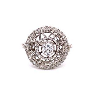 1920Õ Platinum Diamond Ring