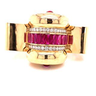 1940Õ French Retro 18K Diamond Bracelet