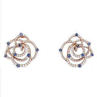 18K Diamond & Sapphire Carvelli Earrings