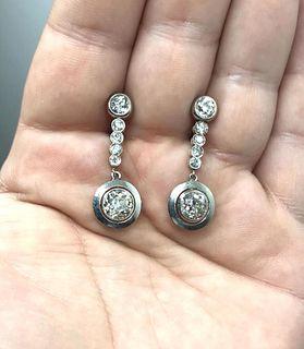 18K & Platinum Diamond Earrings