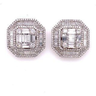 18K Diamond Octagonal EarringsÊ