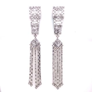 18K Diamond Dangly Earrings
