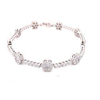 18K Diamond Flower BraceletÊ