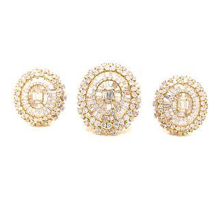 18K Diamond Ring & Earrings Set