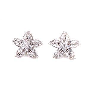 18K Diamond Star EarringsÊ