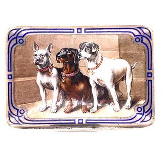 1930Õ Silver Dog Motif Compact