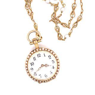 Victorian Ladies NecklaceÊ Pocket Watch