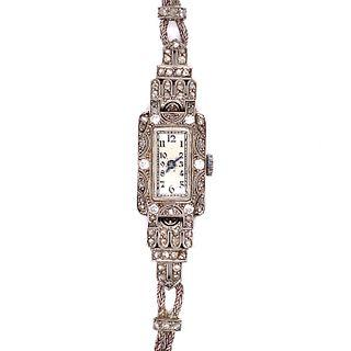 1920' Platinum Diamond Cocktail Watch