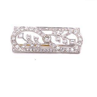 1920Õ Platinum Diamond BroochÊ