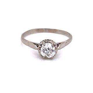1920' Platinum Diamond Engagement RingÊ