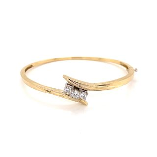 14K Diamond Bangle BraceletÊ
