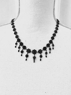 Victorian Vermeil Silver Garnet NecklaceÊ