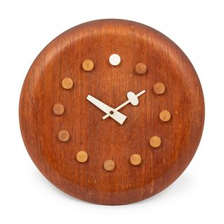 George Nelson & Associates  (American, 1908-1986) Stool Seat Wall Clock, model 7512, c. 1957,Howard Miller, Fritz Hansen, USA/Denmark