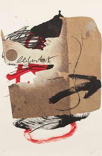Antoni Tapies (Spanish, 1923-2012) La Libertad, 1988