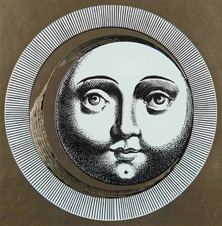 Piero Fornasetti (Italian, 1913-1988) A pair of works from the Sole e Luna series