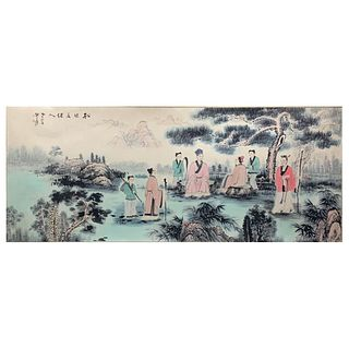 A Chinese Figures Painting, Zhang Daqian Mark