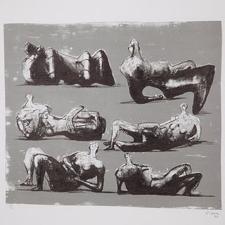 Henry Moore, Six Reclining Figures, 1973