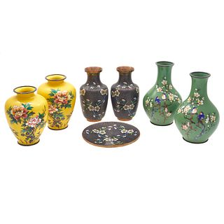 Group of Cloisonne Enamel Objects
