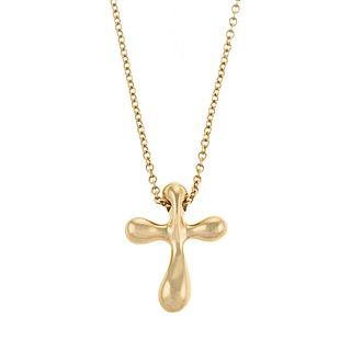 A Tiffany & Co. Elsa Peretti Cross Necklace in 18K