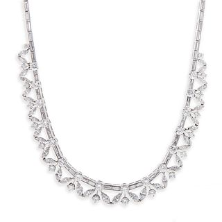 A 1950s Diamond Necklace by Van Cleef & Arpels