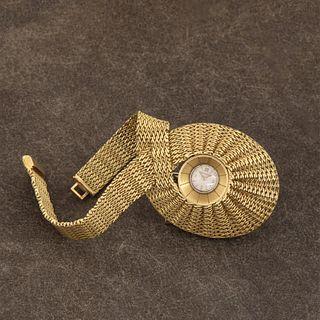 Jaeger LeCoultre, A Yellow Gold Asymmetrical Bracelet Watch