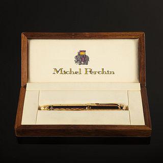 Michel Perchin, Silver Gilt and Enamel Limited Edition Fountain Pen
