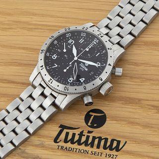 Tutima, Chronograph Ref. FX UTC 740 Wristwatch