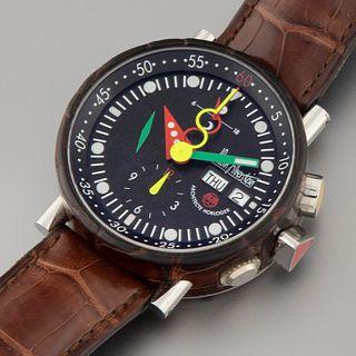 Alain Silberstein, Ref. LWO 5100 Krono Bauhaus Wristwatch