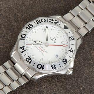 Omega, Ref. 2530.20.00 Seamaster GMT 'Great White' Wristwatch