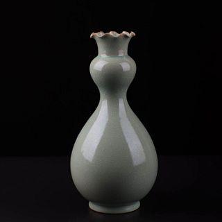 A Ru Kiln Azure Glaze Porcelain Garlic-head Bottle