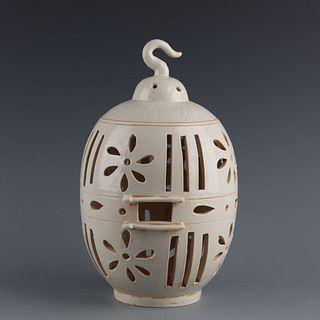 A Ding Kiln Piercing Porcelain Birdcage