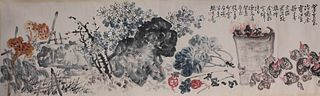 A Chinese Flower Painting, Zhao Yunhe Mark