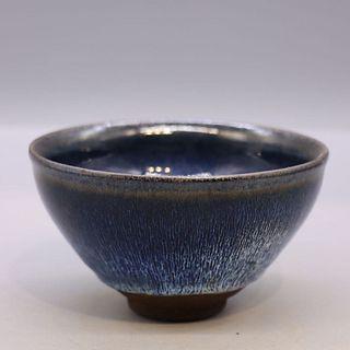 A Jian Kiln Porcelain Hare's Fur Temmoku