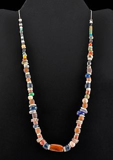Phoenician Glass, Carnelian, Shell, &  Faience Necklace