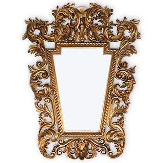 Italian Gilded Rococo Style Mirror