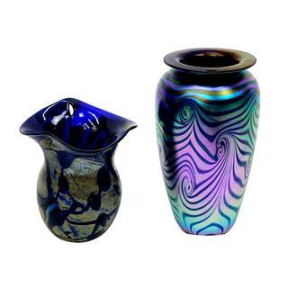 Two (2) Art Glass Vases