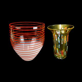Two (2) Murano Art Glass Vases