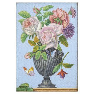 19th C. Italian Micro Mosaic Plaque