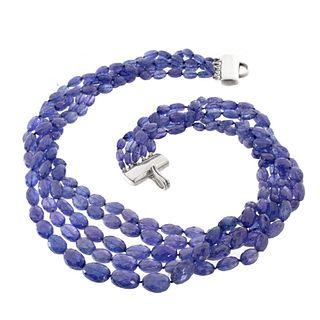 Tiffany & Co Tanzanite and Silver Necklace