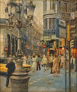 CHUA MIA TEE   Street Scene of Madrid, Spain