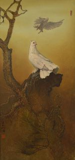 LEE MAN FONG   A Pair of Doves