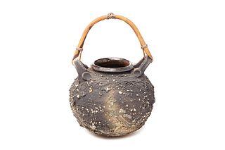 ISKANDAR JALIL | Pottery - Pot with Rotan Handle