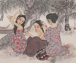 PHUA CHENG PHUE   Three Ladies