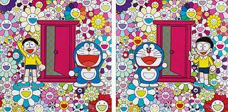 TAKASHI MURAKAMI | DORAEMON: WE CAME TO THE FIELD OF FLOWERS THROUGH ANYWHERE DOOR (DOKODEMO DOOR)