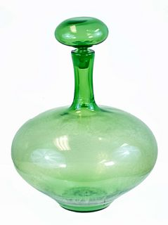 Mid Century Blown Glass Decanter (Mid Century)