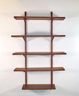 Danish Teak Wall Shelf (Mid Century)